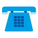 telephone icon blue